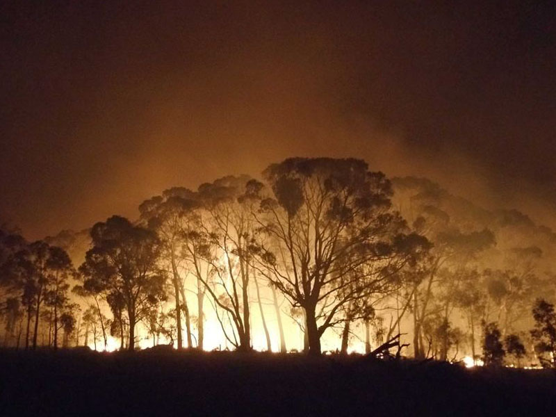 The Lancefield fire was one of 70 to have flared up in Victoria at the weekend.