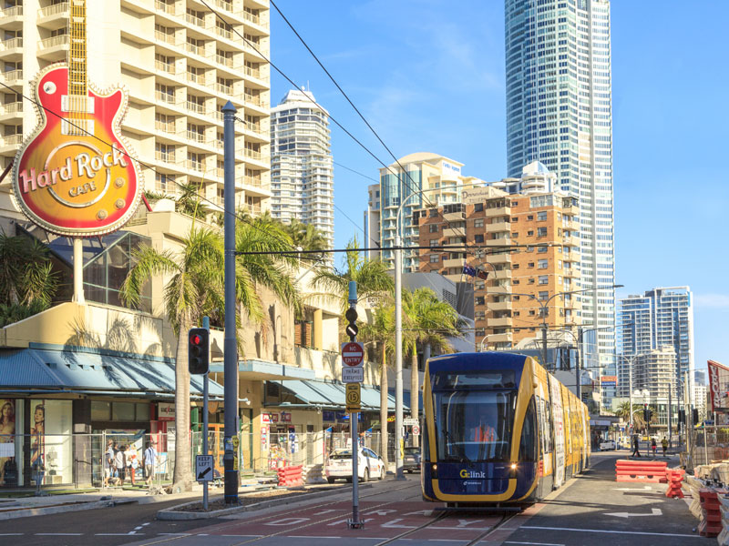 Gold Coast Light rail. Shutterstock