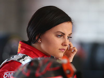 BATHURST, AUSTRALIA - OCTOBER 08: Renee Gracie driver of #200 Harvey Norman Supergirls Falcon prepares for practice for the Bathurst 1000, which is race 25 of the V8 Supercars Championship at Mount Panorama on October 8, 2015 in Bathurst, Australia. (Photo by Robert Cianflone/Getty Images)