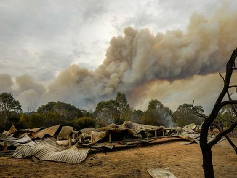 A house was ravaged by the blaze in Lancefield.