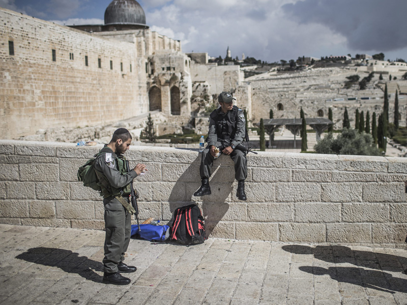The incident was at Jerusalem's Old City.