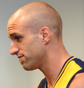 Then Eagles captain Chris Judd confirms in a press conference in March 2007, his support for Ben Cousins who was suspended from the team earlier that week.