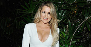 LOS ANGELES, CA - APRIL 23: TV personality Khloe Kardashian attends Opening Ceremony and Calvin Klein Jeans' celebration launch of the #mycalvins Denim Series with special guest Kendall Jenner at Chateau Marmont on April 23, 2015 in Los Angeles, California. (Photo by John Sciulli/Getty Images for Calvin Klein)