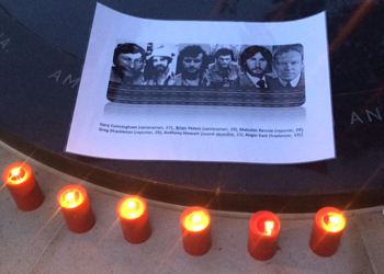 The service marks 40 years since the killings. Photo: Richard J Browning / Twitter