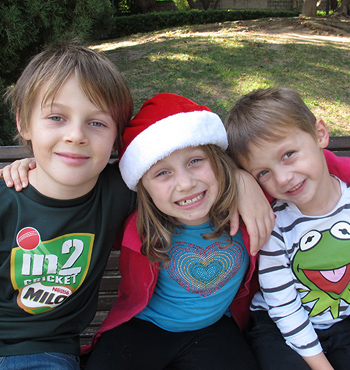 Australian children Mo, Evie and Otis Maslin were killed in the crash.