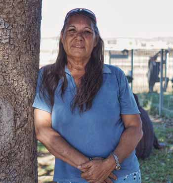 Millie Hills is a member of the Halls Creek Aboriginal Advisory Board.