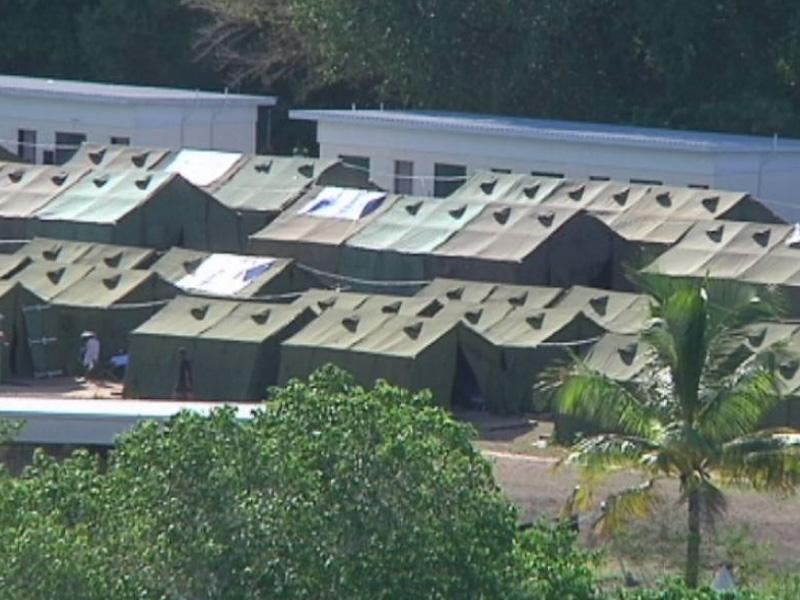 Nauru asylum seeker camp.