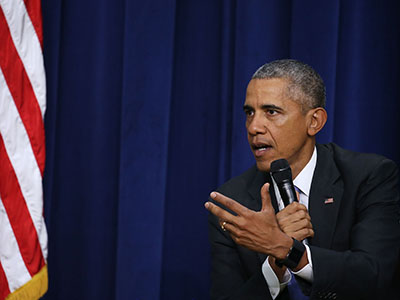 WASHINGTON, DC - OCTOBER 22: U.S. President Barack Obama participates in a conversation on criminal justice reform, at the White House October 22, 2015 in Washington, DC. Later this month theÊSenate Judiciary Committee plans to vote on the Smarter Sentencing Act, which hopes to reform mandatory-minimum sentencing and the federal prison system. (Photo by Mark Wilson/Getty Images)