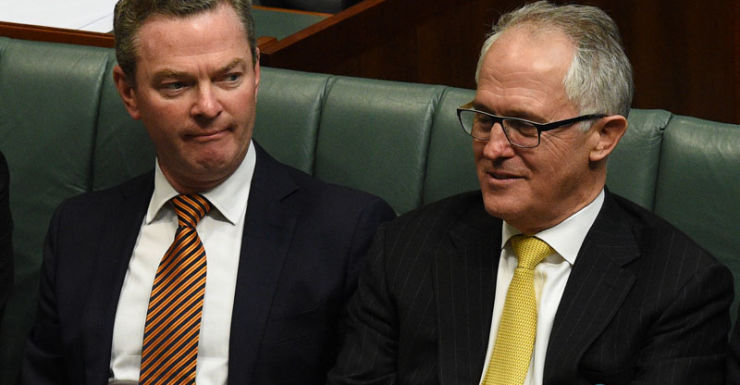 Government drops reforms that Mr Pyne was criticised for.