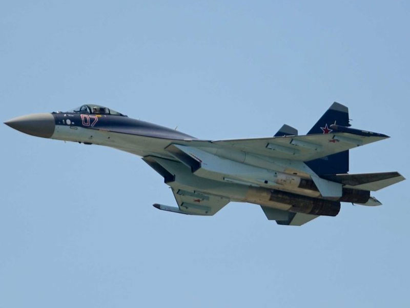 Russian Sukhoi Su-35 fighter jet