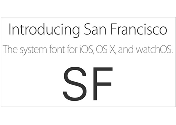 The new font is another integration across all Apple devices.