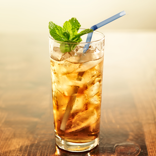 Iced tea is a refreshing drink with minimal sugar.