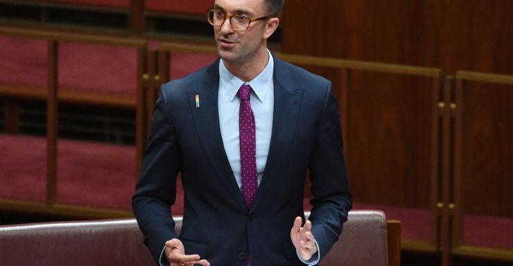 New Greens Senator Robert Simms makes his first speech in the Senate.