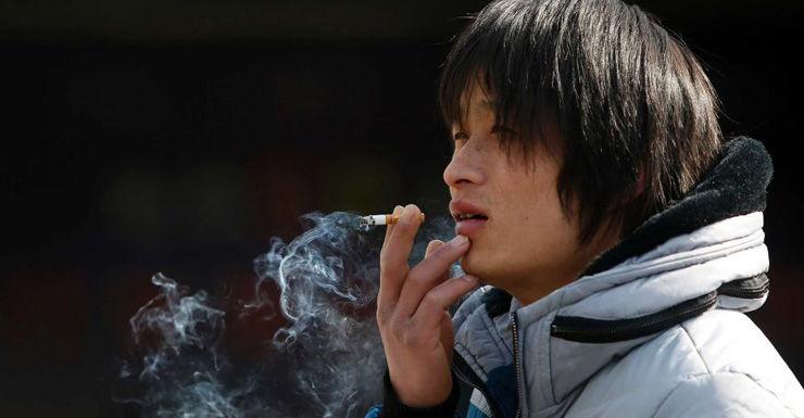 smoking man china