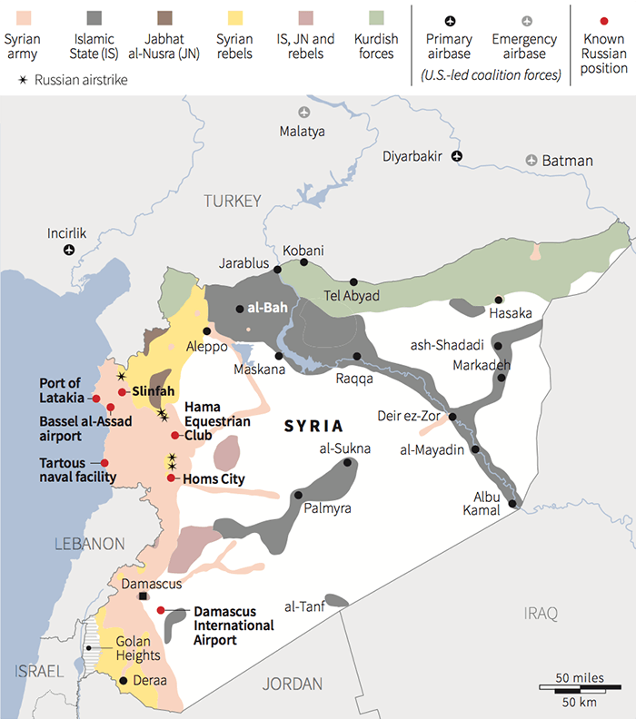 russian airstrike map