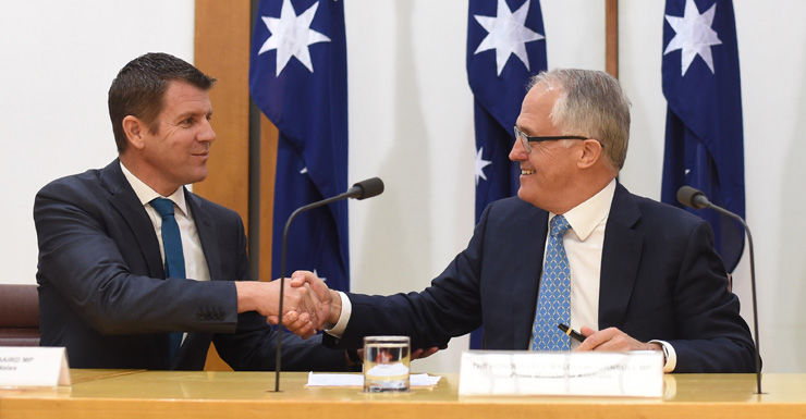 Mike Baird and Malcolm Turnbull