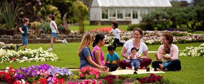 The Werribee Park formal gardens.