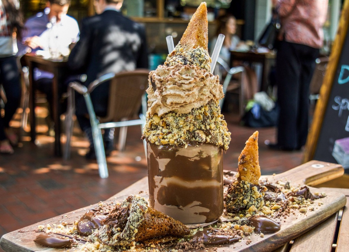 "Pâtissez's new ""Freakin' Nutz"" FreakShake. Photo: Instagram"