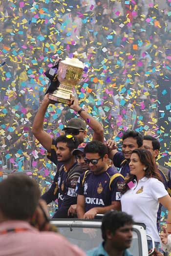 There's no hotter ticket in Kolkata than the Knight Riders. Photo: Getty