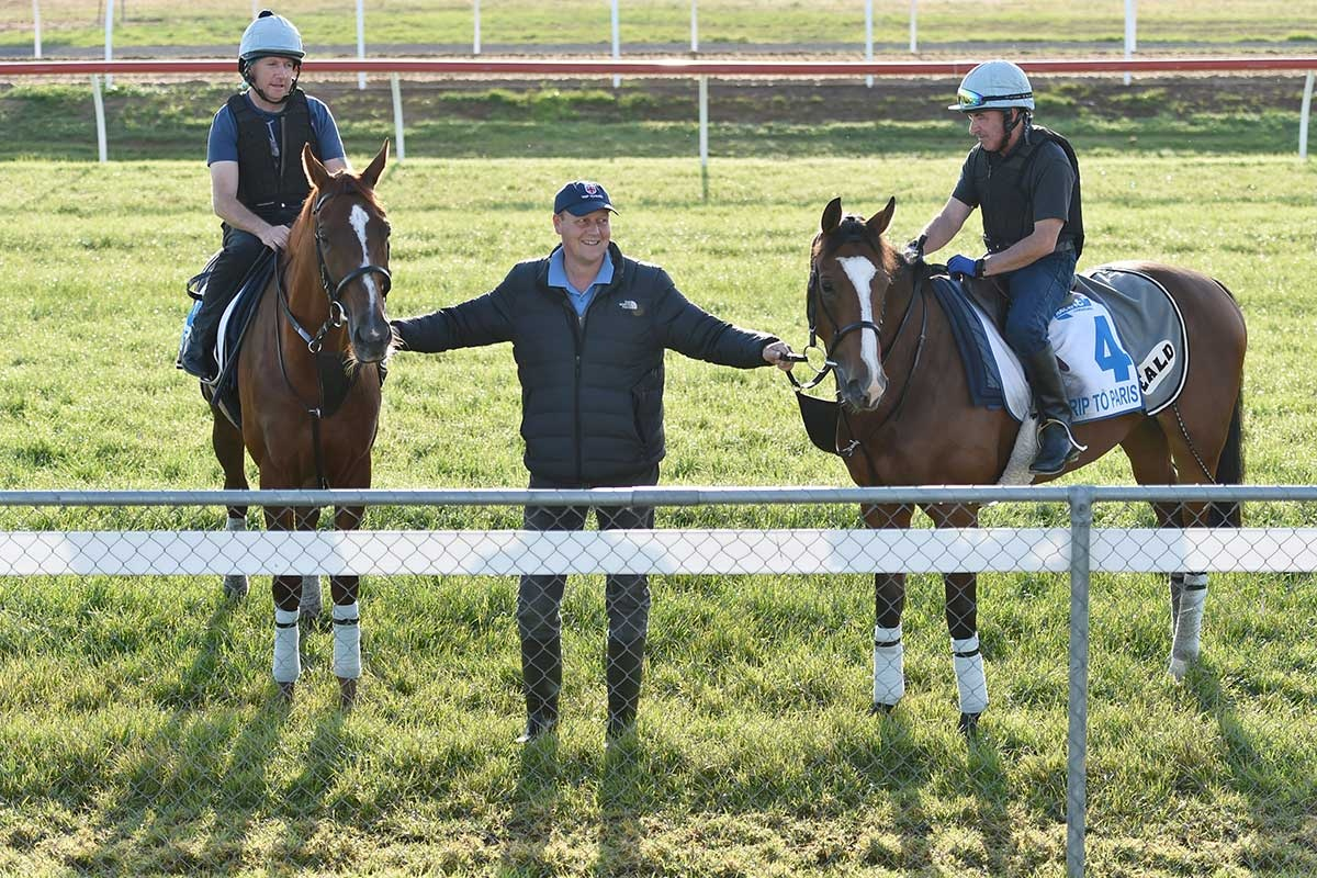 Red Cadeaux (left) and Trip to Paris should be there when the heat is on. Photo: AAP