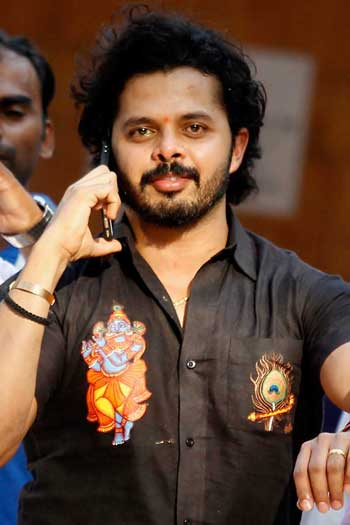 Former Rajasthan Royals player S Sreesanth was banned for life for spot fixing during the 2013 IPL season. The scandal hasn't slowed the competition down. Photo: Getty
