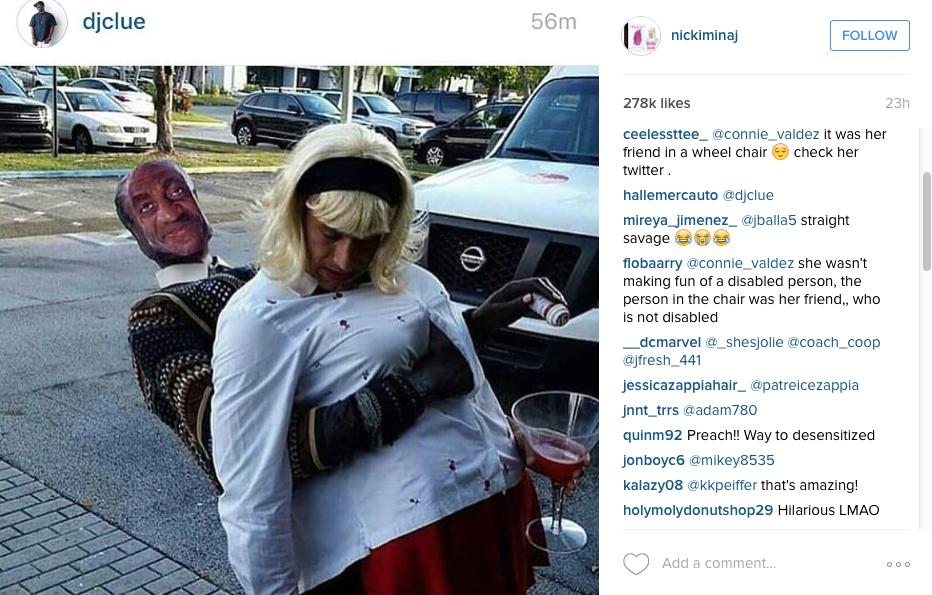 Nicki Minaj slams Bill Cosby costume | The New Daily