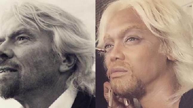 Model Tyra Banks transformed into magnate Richard Branson. Photo: Instagram