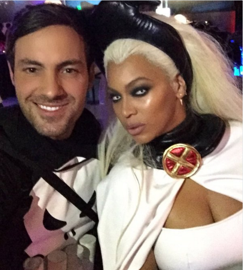 Beyonce as superheroine Storm from X-Men. Photo: Instagram