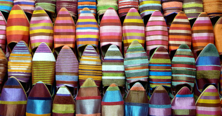 Moroccan Babouches – so hot right now. Photo: Getty