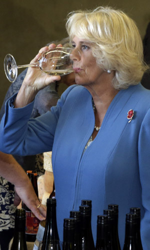Camilla has her own potion for remaining young in appearance, applying a bee venom face mask.