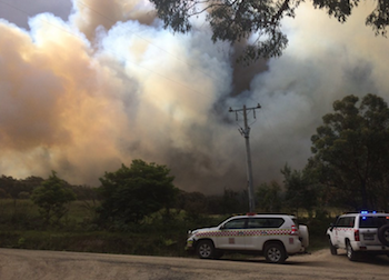 Devon North bushfire