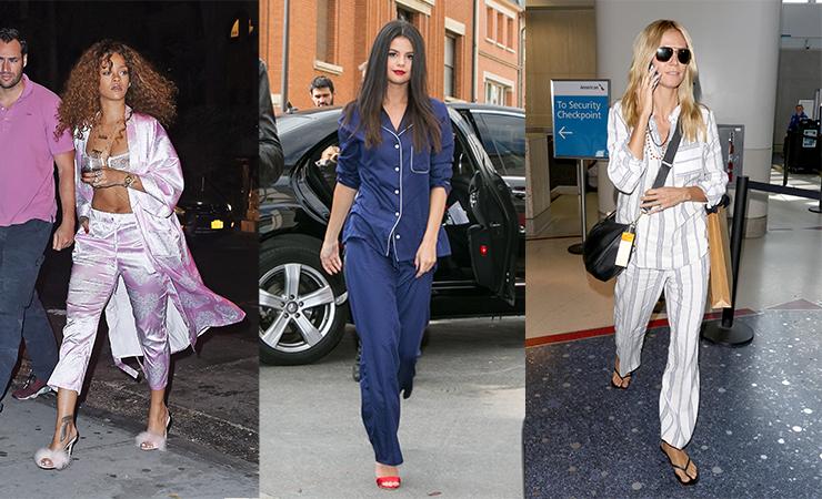 L-R: Rihanna, Selena Gomez and Heidi Klum.