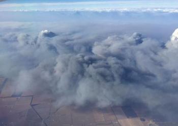 esperance bushfire from sky