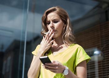 Female smoker cigarettes