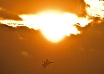 warplane fighter sun