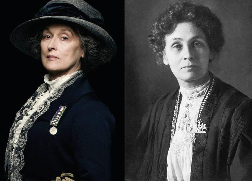 Resultado de imagem para Emmeline Pankhurst e streep