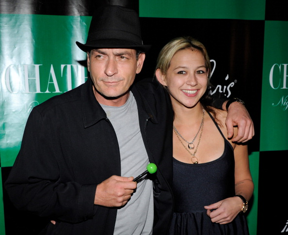 Sheen with ex-girlfriend Natalie Kenly in 2011. Photo: Getty