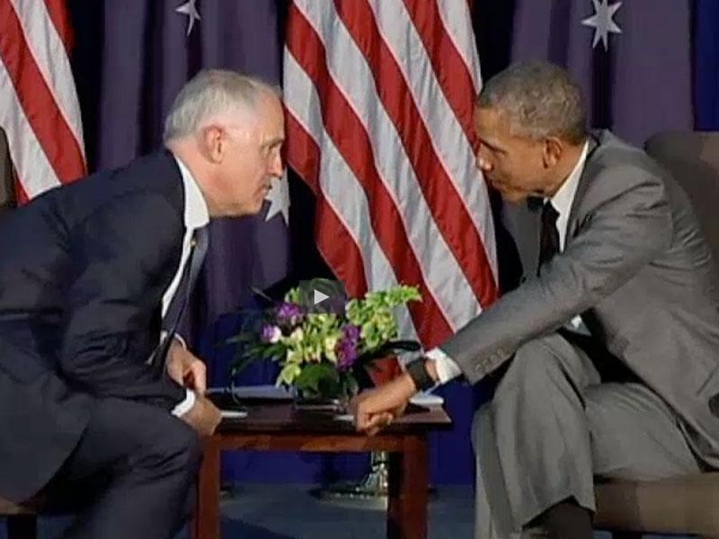 Obama Turnbull washington