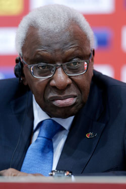 Ex-IAAF president Lamine Diack has been provisionally suspended by the IOC. Photo: Getty