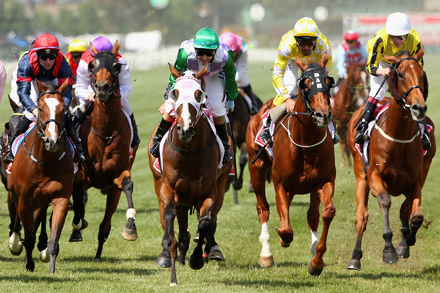 MELBOURNE, AUSTRALIA - NOVEMBER 03: Michelle Payne rides Prince of Penzance to win race 7, the Emirates melbourne Cup on Melbourne Cup Day at Flemington Racecourse on November 3, 2015 in Melbourne, Australia. (Photo by Quinn Rooney/Getty Images)