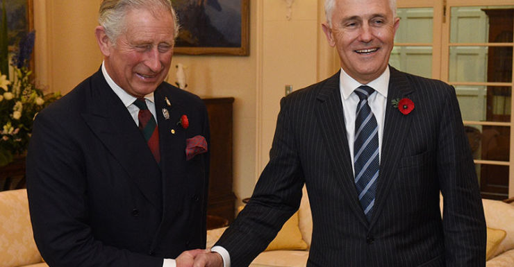 Prince Charles and Malcolm Turnbull
