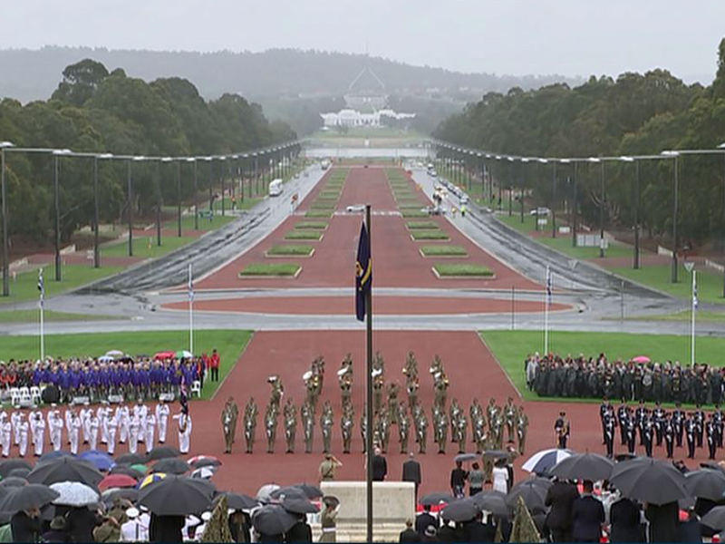 Remembrance Day service at the Australian War Memorial.