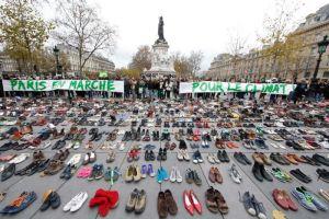 paris shoes protest