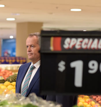 Opposition Leader Bill Shorten did well to hide behind his party's policies this week, after disastrous poll results.