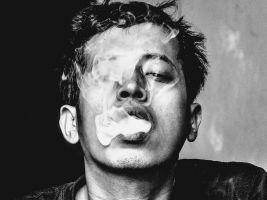 smoker smoking cigarettes