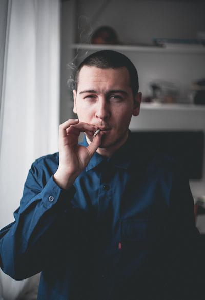 men with cigarette