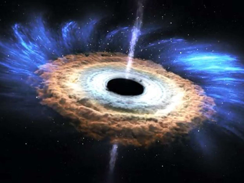 Scientists watched for the first time as a star was grabbed and ripped to pieces. Pic: NASA
