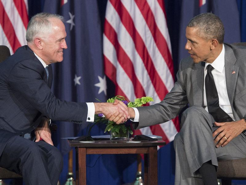 Malcolm Turnbull and Barack Obama