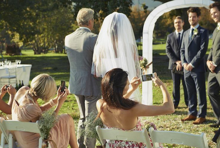 Don't ruin a special moment with your iPhone. Photo: Getty