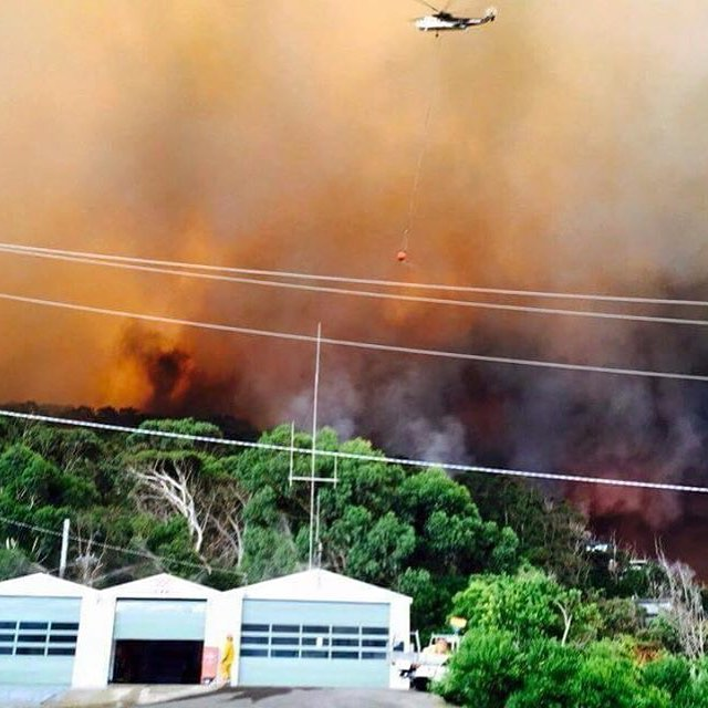 Fire attacked from air, Separation Creek, Wye River